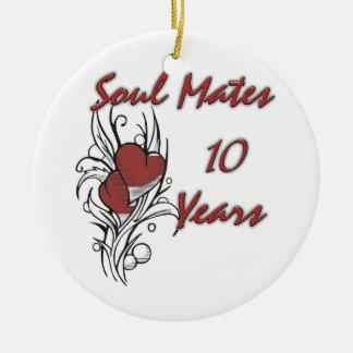 Soul Mates 10 Years Ceramic Ornament