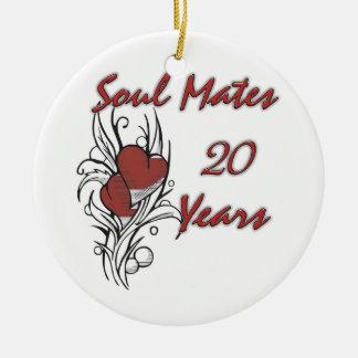Soul Mates 20 Years Ceramic Ornament