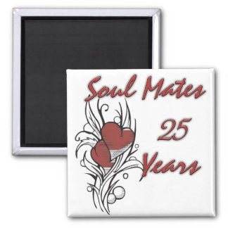 Soul Mates 25 Years Square Magnet