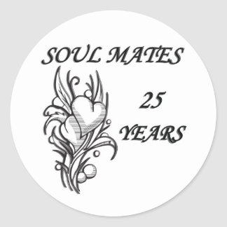 SOUL MATES 25 Years Round Sticker