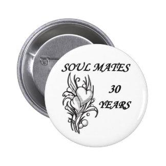SOUL MATES 30 Years 6 Cm Round Badge