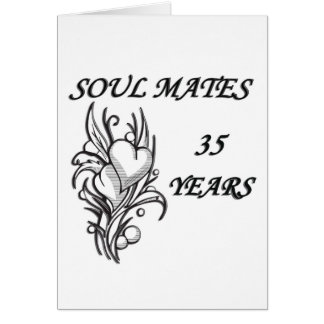 SOUL MATES 35 Years Card