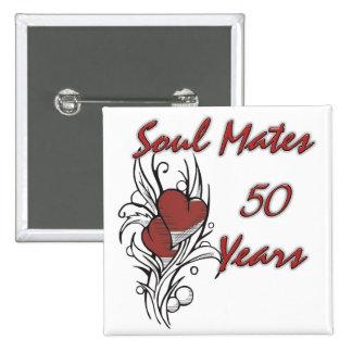 Soul Mates 50 Years 15 Cm Square Badge