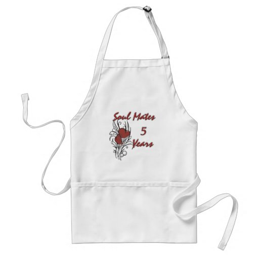 Soul Mates 5 Years Apron