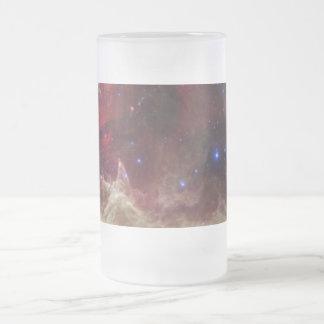 Soul Nebula emission nebulae in Cassiopeia Frosted Glass Mug
