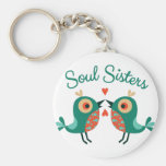 Soul Sisters Basic Round Button Key Ring