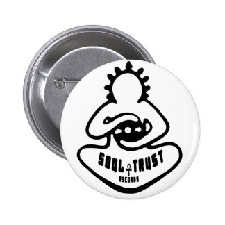 Soul Trust Records Logo, 2¼ Inch Round Button