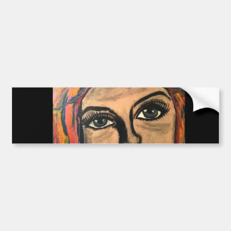 Soulful Eyes Bumper Sticker