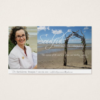 Soulful Wedding Ceremonies Business Card