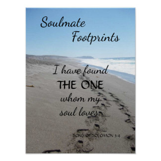 Soulmate Footprints Poster with Poem