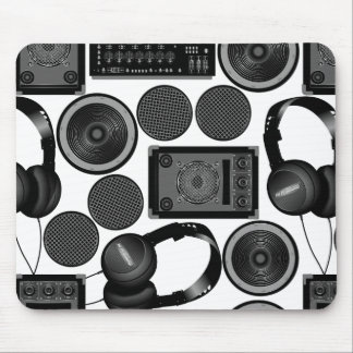 Sound and subwoofer speakers mouse pad