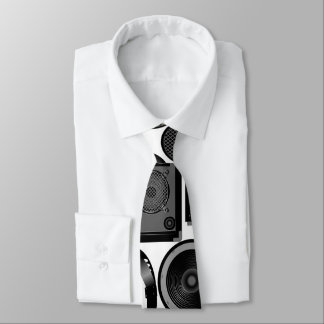 Sound and subwoofer speakers tie