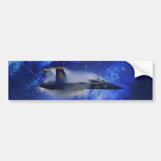 Sound barrier plane bumper sticker