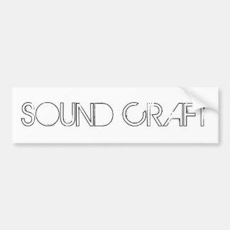 SOUND CRAFT WHITE STICKER BUMPER STICKER