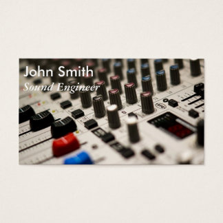 Sound Engineer freelance music producer stylish Business Card