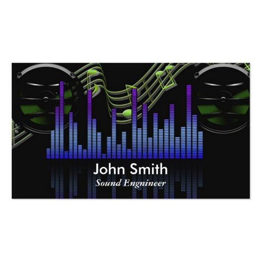 Sound Engineer or freelance music producer studio Business Card Templates