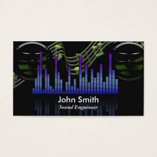 Sound Engineer or freelance music producer studio Business Card