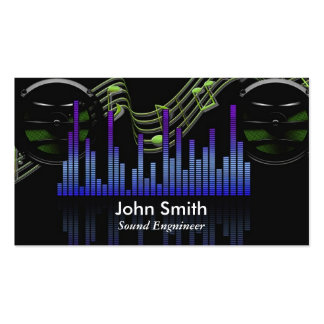 Sound Engineer or freelance music producer studio Pack Of Standard Business Cards