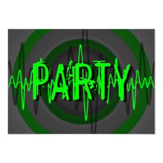 Sound Green Dark 'PARTY' invitation