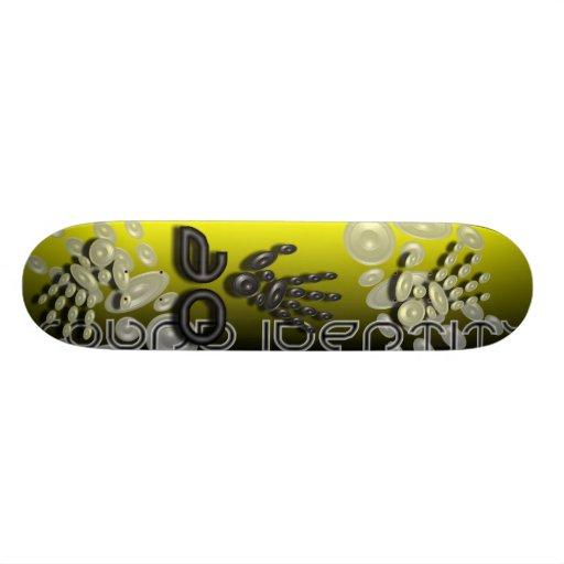 Sound Identity gold skateboard