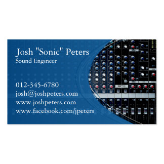 Sound Mixing Console Blue Business Card