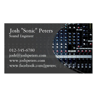 Sound Mixing Console Grey Business Card