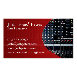 Sound Mixing Console Red Business Card