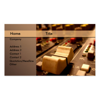 Sound \ music \ producer \ mixer pack of standard business cards