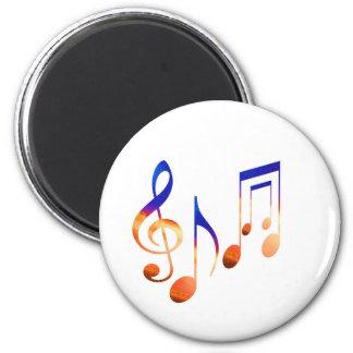 Sound of Music - Dancing Symbols 6 Cm Round Magnet