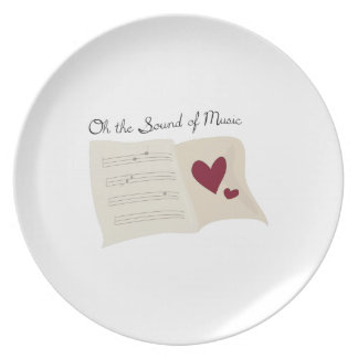 Sound of Music Party Plate