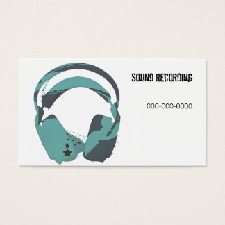 sound recording headphones business card