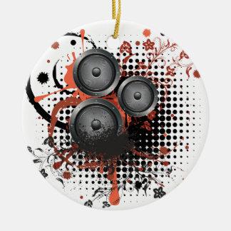 Sound Speaker with Floral Ceramic Ornament