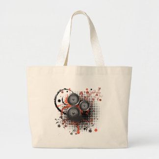 Sound Speaker with Floral Large Tote Bag