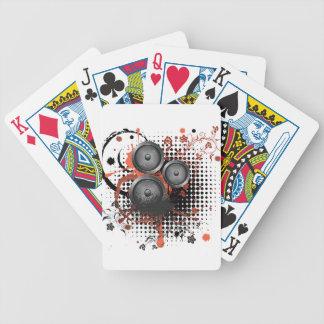 Sound Speaker with Floral Poker Deck