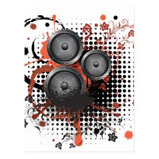 Sound Speaker with Floral Postcard