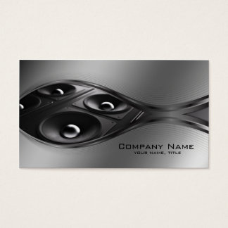 Sound Systems Grey Metal Gradient Business Card