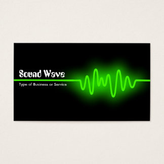Sound Wave - Green and Black Business Card