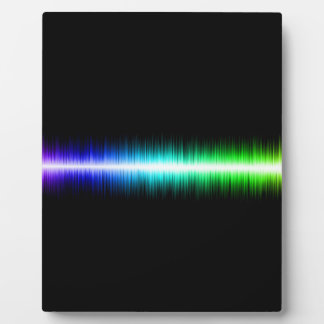 Sound Waves Design Photo Plaque