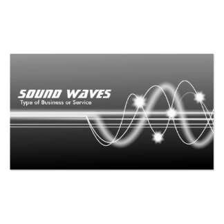 Sound Waves - Gray Shaded Pack Of Standard Business Cards