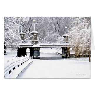 Sounds of Silence: Boston Public Garden-Greeting Greeting Card