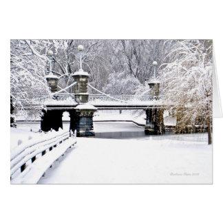 Sounds of Silence: Holiday Boston Public Garden Greeting Card
