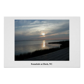Soundside at Duck, NC Poster