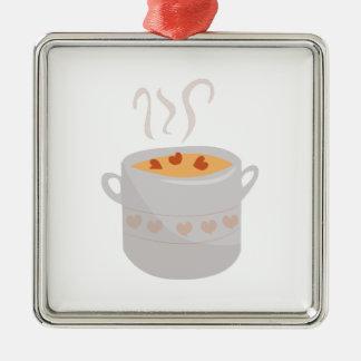 Soup Bowl Metal Ornament
