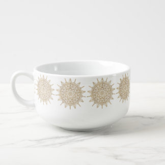 Soup Mug Golden Mandala Pattern Design