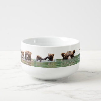 Soup Mug w/ ring of grizzly bears