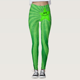 Sour Apple Star Swirl Sexy Grunge Yoga Leggings