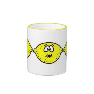 Sour Lemon Face Ringer Coffee Mug