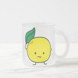 Sour Lemon Frosted Glass Mug