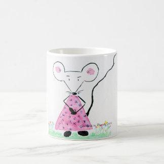 Souricette celebrates some for spring basic white mug