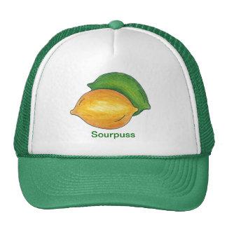 Sourpuss Lemon Lime Citrus Fruit Sour Puss Hat